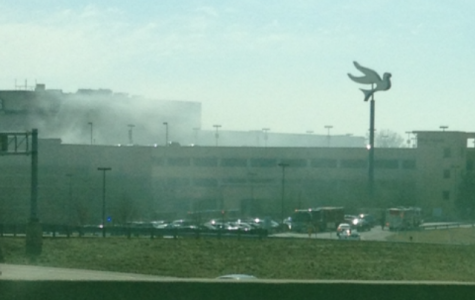 Car catches fire at West County Mall