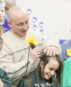 Bridgeway Elementary students donating their hair to a good cause at last year's event.