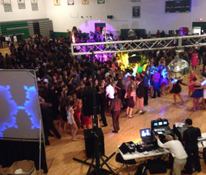 Pattonville is hosting a new dance this year called My Tie, a Sadie Hawkins-style dance where the girls ask the boys to go with them. Traditionally, Pattonville has two dances, homecoming and prom. Pictured is the high school gym during the 2013 homecoming dance.