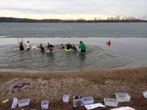 Pattonville Student Council members participate in the 2014 Polar Plunge. (File photo)