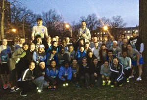 37 students and nine staff members completed the Go! St. Louis Half-Marathon. (Photo provided by Ms. Shelley Ewig.)