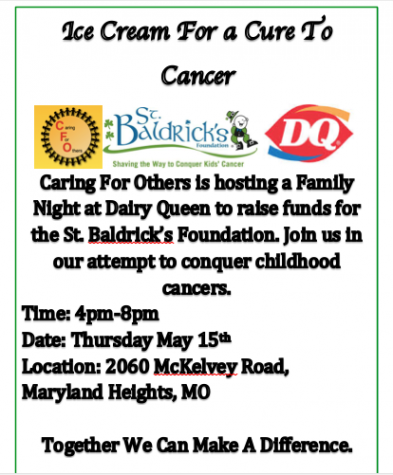 "CFO is hosting ""Ice Cream For a Cure To Cancer"""