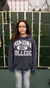 Daniela Hinojosa was accepted to Pamona College through the Questbridge Program.