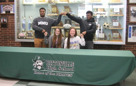 Four student-athletes sign to play sports in college