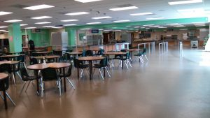 The newly updated cafeteria has caused some problems during student lunch periods.