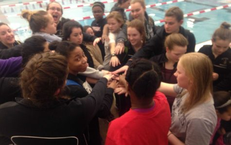 Girls' swim and dive team takes 5th place at Conference