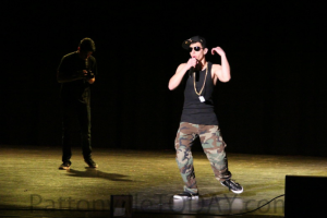 Rathwaan Al-gebory performs a rap during the talent portion of the 2015 Mr. PHS show. (file photo)