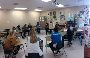 Students lead a session during EdCampSTL at Pattonville High School on Saturday, Feb. 7. (Photo courtesy of @WIT_STL)