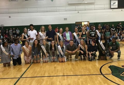 The 2016 Homecoming court was introduced during Monday's pep assembly.