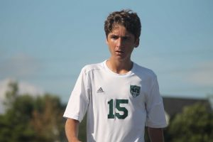 Tanner Harris recorded a hat trick in the District semifinal win. Pirates will play for their first District title since 1997.