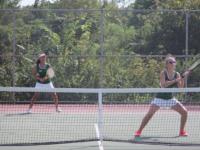 SLIDESHOW Girls' varsity tennis defeats Hazelwood West 9-0