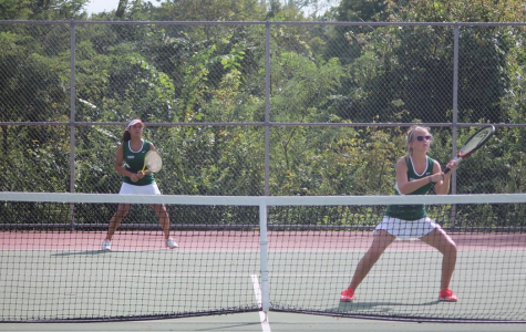 SLIDESHOW Girls' varsity tennis defeats Hazelwood West 9-0