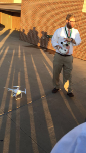 Mr. Lamb tells the class about the drone during first hour