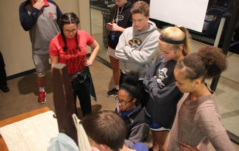 Newspaper, yearbook staff members 'Escape' the room