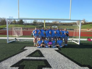 Girls soccer wears Peyton's Pals T-shirts before a fundraising game during the 2016 season. (file photo)