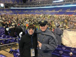 Henry Bodde and his brother Max attended the Army/Navy game in Baltimore, Maryland on December 10