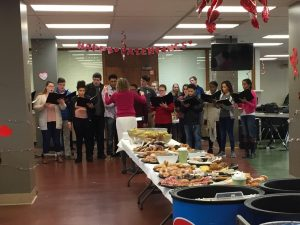 Chamber Choir sings at the NHS Valentine's Day Brunch