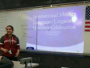 Sophomore Shaleen Gupta teaching Punjabi and Hindi