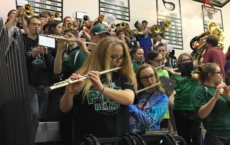 Pep band brings spirit to the gym bleachers