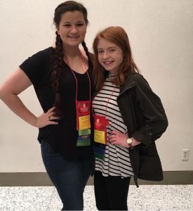 Haley Reynolds & Samantha Steinmeyer at Thespian Conference in January of 2017
