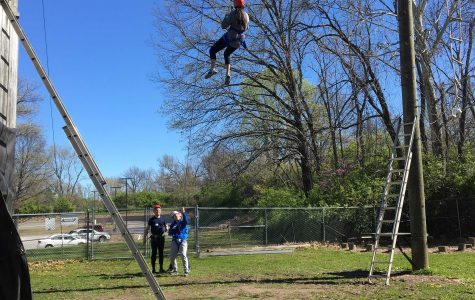 Student Council members challenge themselves at the Ropes Course