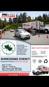 ProShred event flyer