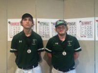 Connor Hogan, 12, and Shawn Hulahan, 11, receive their medals at the Conference Tournament.