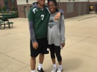Auston Bonté gave his warm-up to Erykah White to rep him on the day of a big conference game.