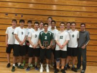 The varsity team placed first in the silver division in the Parkway Central's Varsity Tournament.