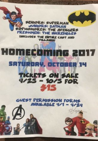 Homecoming theme this year is Superheroes