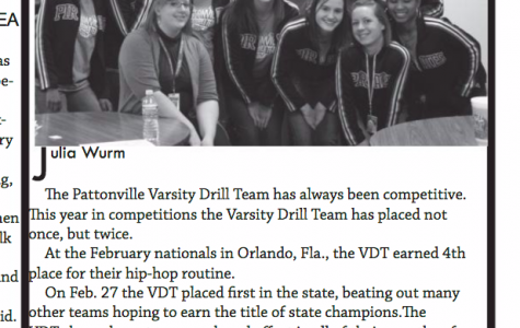 Varsity Drill Team has won State in 2010 and 2013