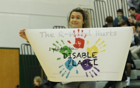 'Disable the Label' assembly teaches students to respect others
