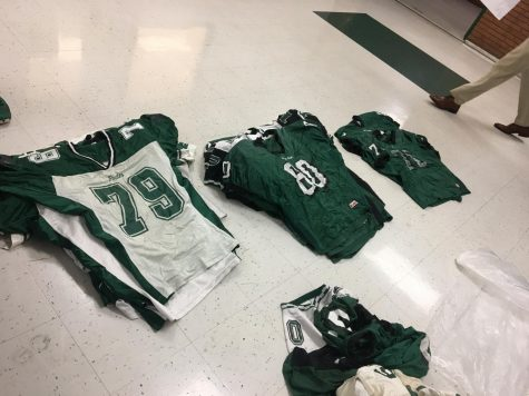 Old football jerseys being sold to fans