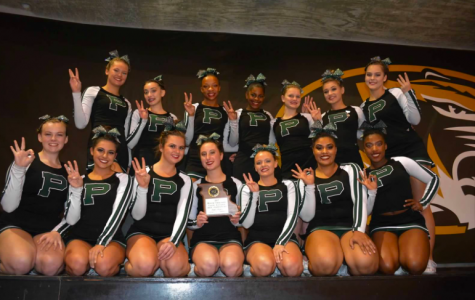 Varsity cheerleaders placed third at state competition