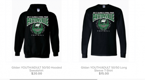 Playoff apparel available for purchase