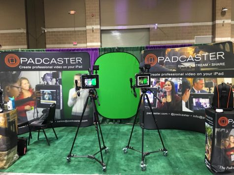 Green screen technology is showcased at #METC18