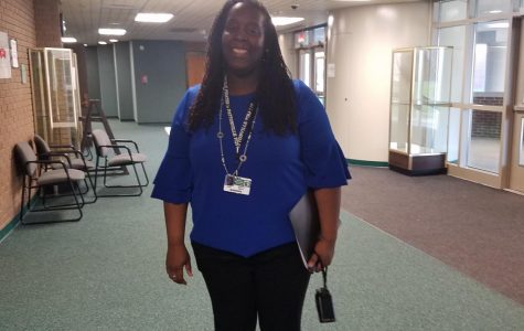 Assistant principal Ms. Odetta Smith presents during Writers Week
