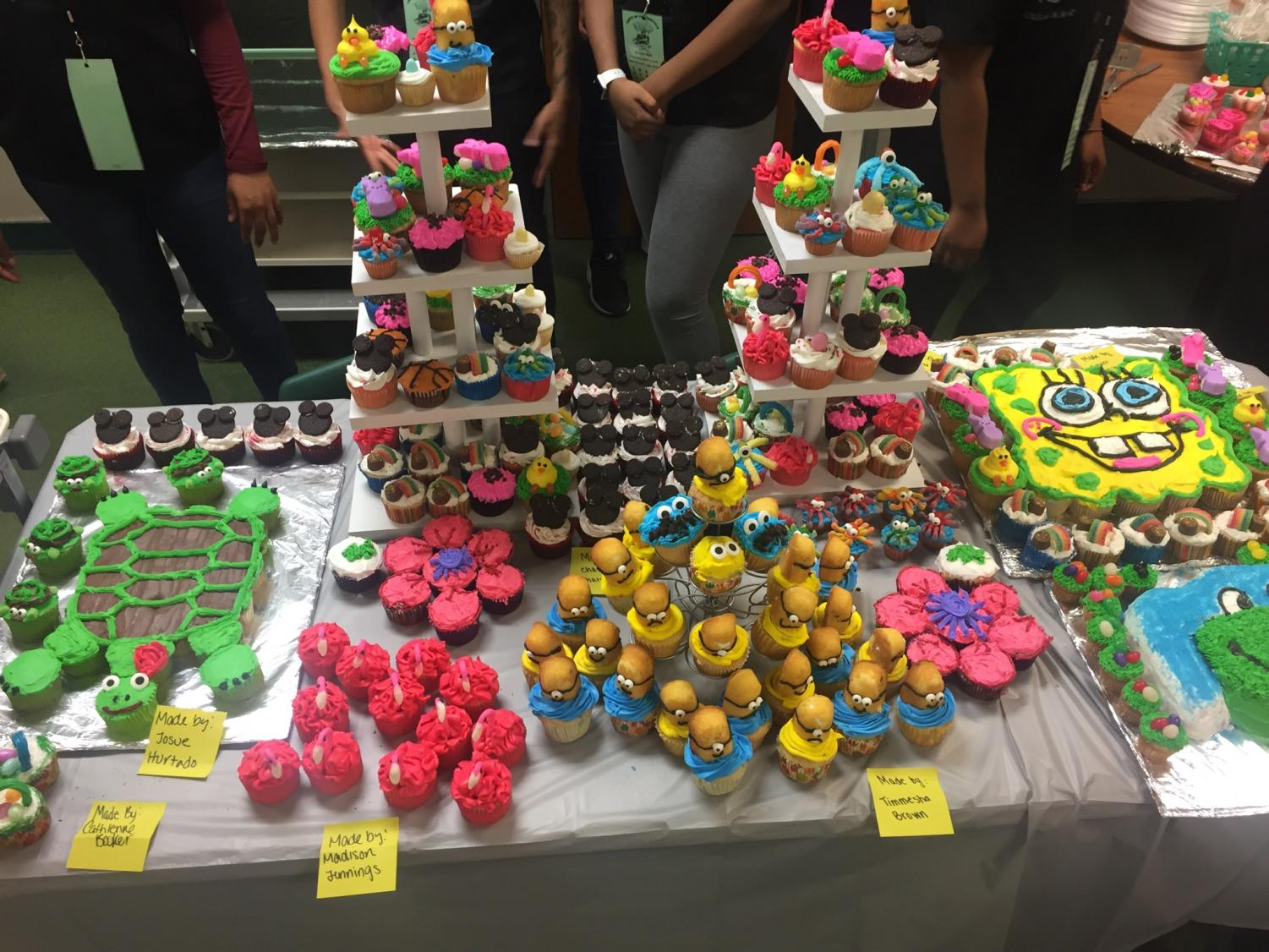 The Pattonville Culinary Arts students created desserts for the Taste of Pattonville event.