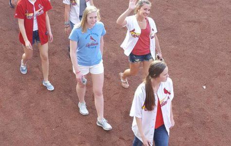 Basta attends Scholar-Athlete Night at Cardinals game
