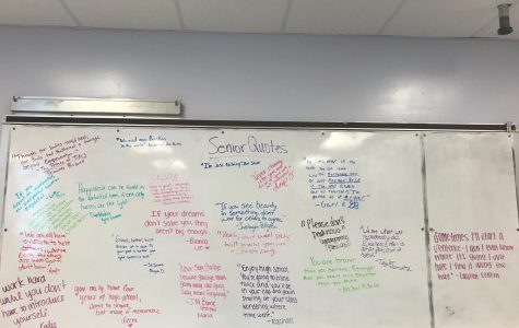 Seniors write messages for future students