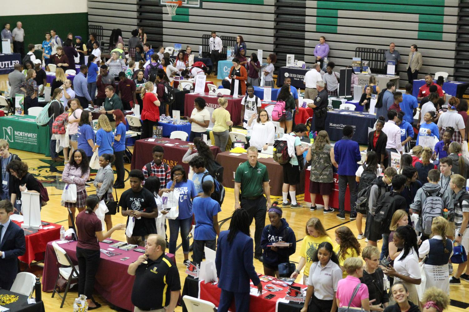 Pattonville High School hosted the North County College Fair on Thursday, Sept. 20. More than 80 post-secondary options for students attended the event.