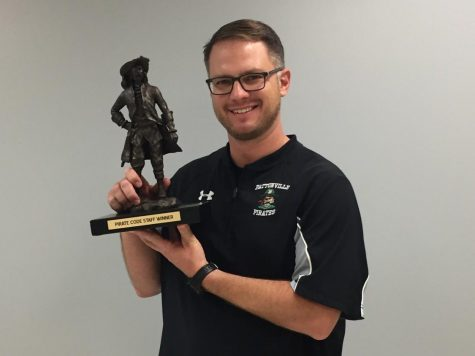 Corrado wins Pirate Code Teacher of the Week