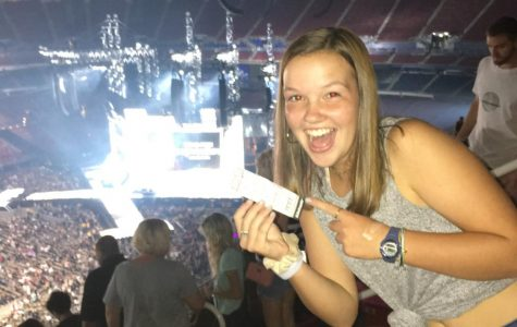 Johnson won tickets to the Taylor Swift concert