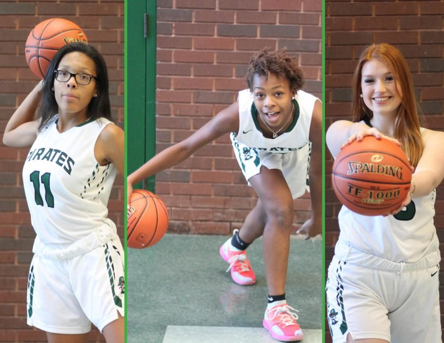 Brooke+Jenkins%2C+Kendall+Battle+and+Helen+Nelson+are+the+expected+leaders+of+the+2018-2019+girls%27+basketball+team.