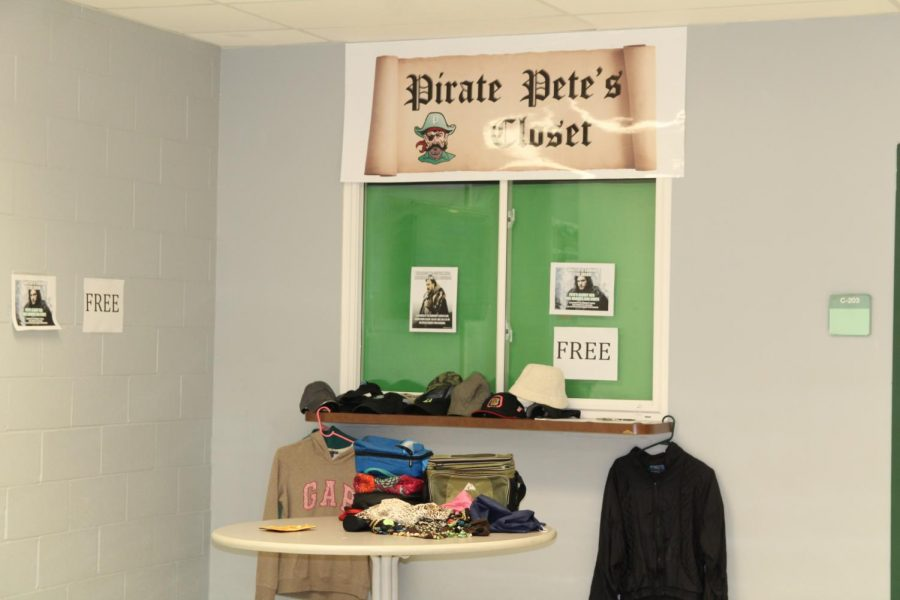 Pirate+Pete%27s+Closet+is+located+near+Gallery+G+and+the+School+Resource+Officer+office.+The+store+offers+free+clothes+to+students+that+are+in+need.