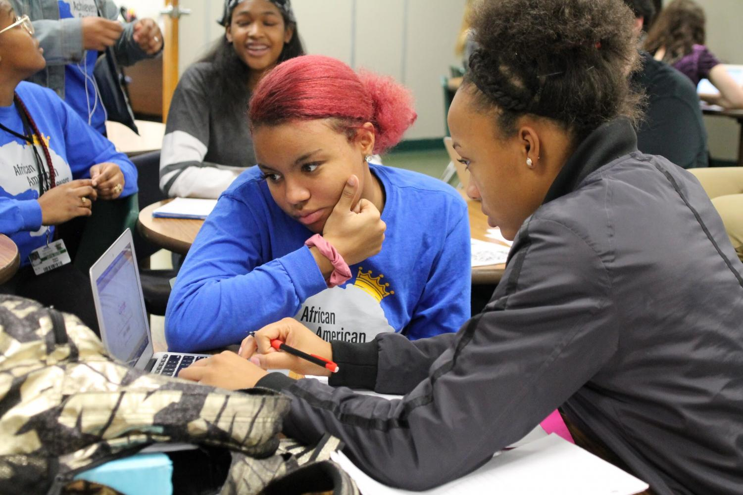 Students study for their exams during Triple A's Finals Frenzy event on Dec. 12.