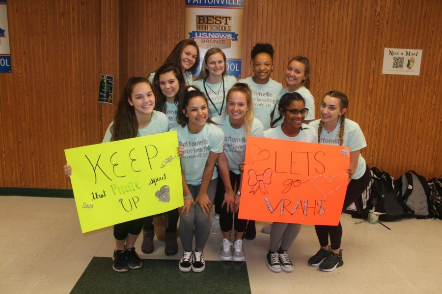 The+cheerleaders+were+surprised+with+a+clap-out+before+leaving+for+Nationals.