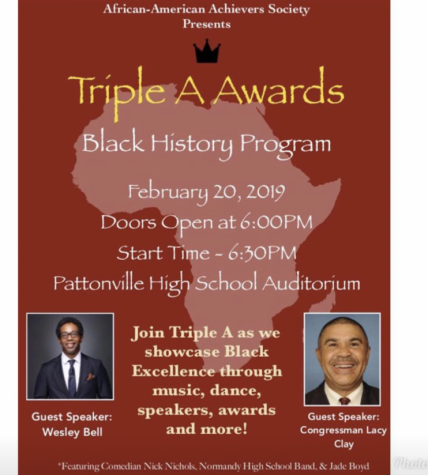 The 3rd Annual Triple A Black History Program will be held on Feb. 20