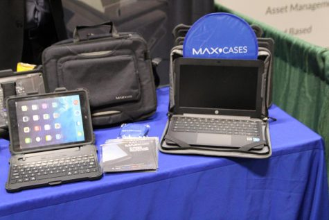 Max Cases protects electronics from breaking, displayed products at #METC19
