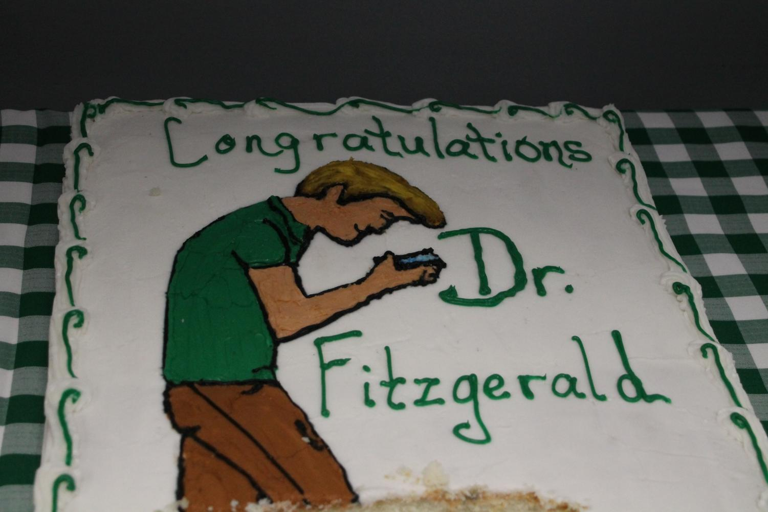 Dr.+Fitzgerald%27s+humorous+cake.